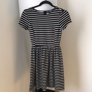 Peter Som Black and White Striped Dress